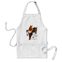 5 Horse Heads Adult Apron