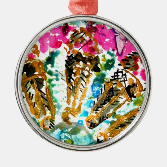 5 ice cream metal ornament