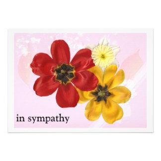 5 in sympathy personalized invitation