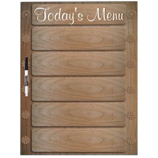 5 item Today's Menu, Large Dry Erase Board w/ Pen