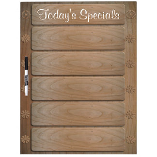 5 item Today's Specials Large Dry Erase Board