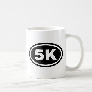 5 K Runner Black Oval Coffee Mugs