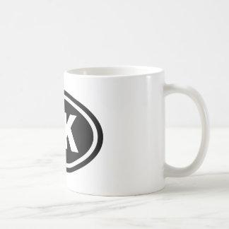 5 K Runner Black Oval Coffee Mug