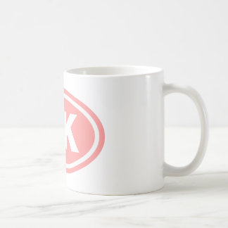 5 K Runner Pink Oval Coffee Mugs