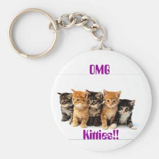 5 Kittens Key Chains