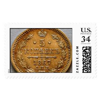 5 kopek 1867 sello postal