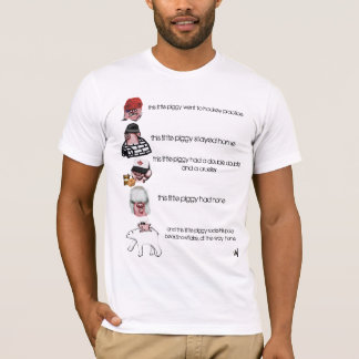 5 little canadian piggys T-Shirt