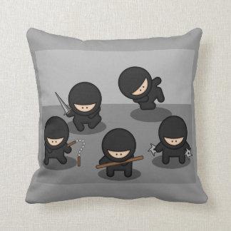5 Little Cartoon Ninjas Pillow