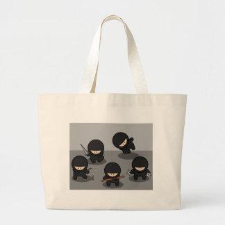 5 Little ninjas Jumbo Tote Bag