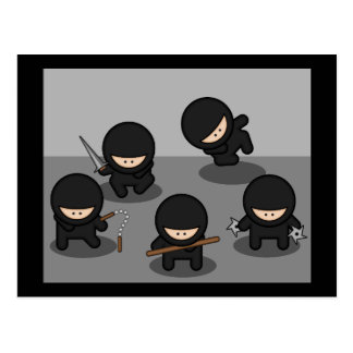 5 Little ninjas Postcard