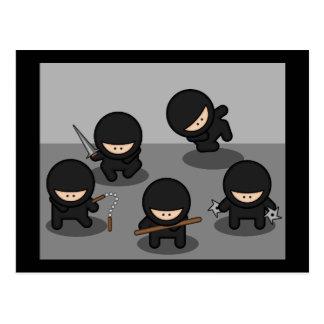 5 Little ninjas Post Card