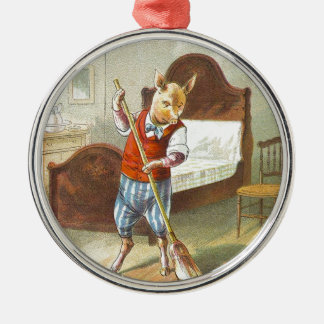 5 Little Pigs: The Home Pig Metal Ornament