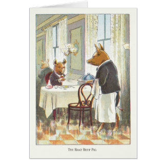 5 Little Pigs: The Roast Beef Pig Card