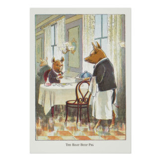 5 Little Pigs: The Roast Beef Pig Poster