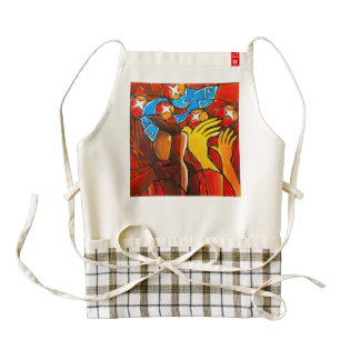 5 Loaves 2 Fishes Zazzle HEART Apron