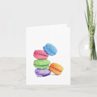 5 Macarons Card card