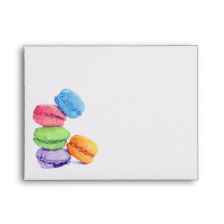 5 Macarons Note Card Envelope