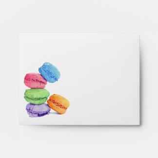 5 Macarons Note Card Envelope
