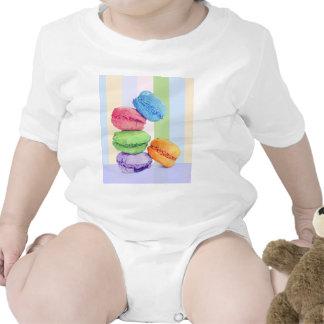5 Macarons stripes Infant Tshirts