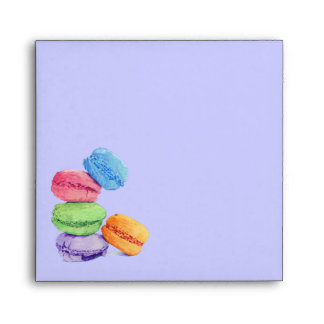 5 Macarons stripes Invitation Envelope