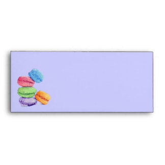5 Macarons stripes Letterhead Envelope