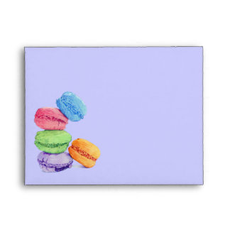 5 Macarons stripes Note Card Envelope
