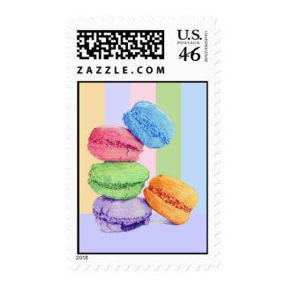 5 Macarons stripes Stamp