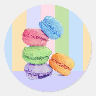 5 Macarons stripes Sticker