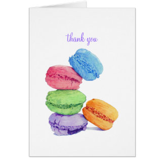 5 Macarons Thank You Note Card