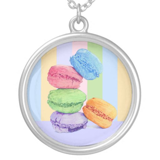 5 Macaroons stripes Necklace