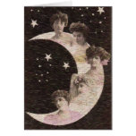 5 Maidens on the Moon Greeting Card