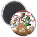 5 marionetas del dedo de Demócrata Imán