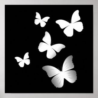 5 mariposas blancas impresiones