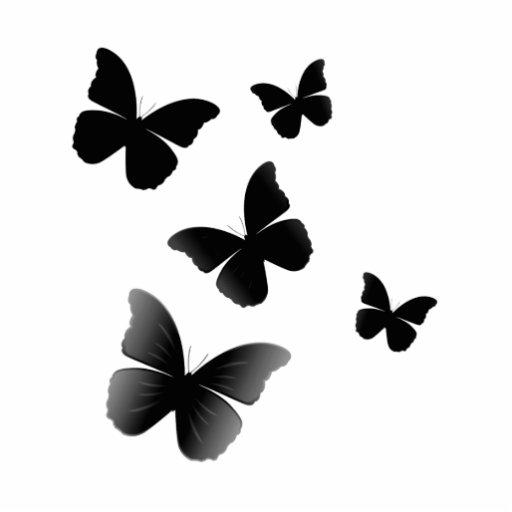5 mariposas negras fotoescultura vertical