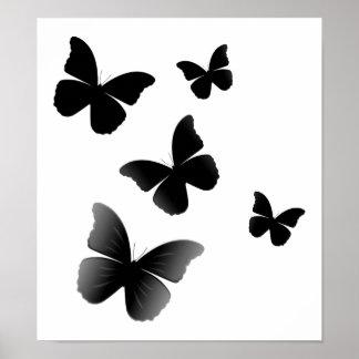 5 mariposas negras póster