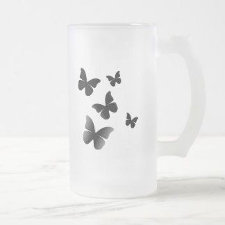 5 mariposas negras tazas