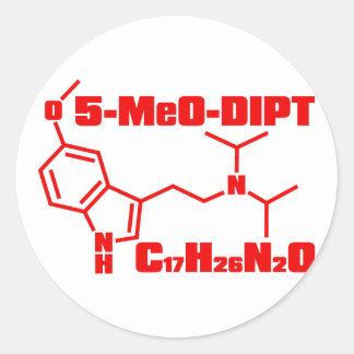 5-MeO-DiPT Pegatina Redonda