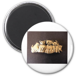5 Meows 2 Inch Round Magnet
