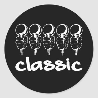 5 Mics Classic Classic Round Sticker