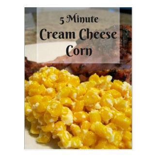5 Minute Cream Cheese Corn Recipe Card