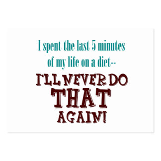 5 Minute Diet Profile or Business Cards
