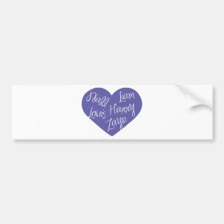 5-names-in-heart-2100-lavender.png bumper sticker