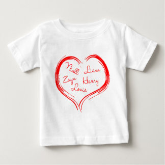 5-names-in-heart-2100-red.png baby T-Shirt