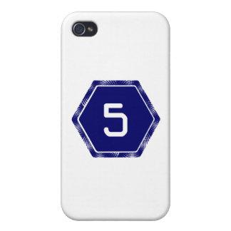 #5 Navy Tek iPhone 4 Cover