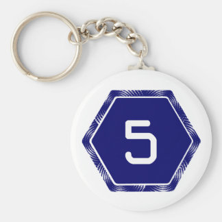 #5 Navy Tek Keychain