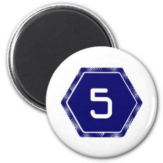 #5 Navy Tek Magnet