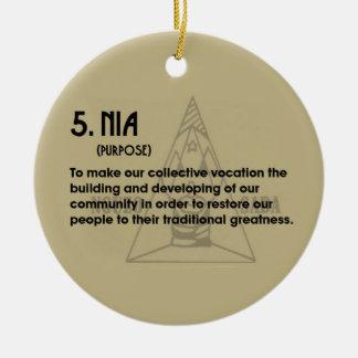 5. NIA Kwanzaa Holiday Ornament