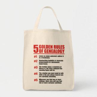 5 normas de oro de genealogía bolsa tela para la compra