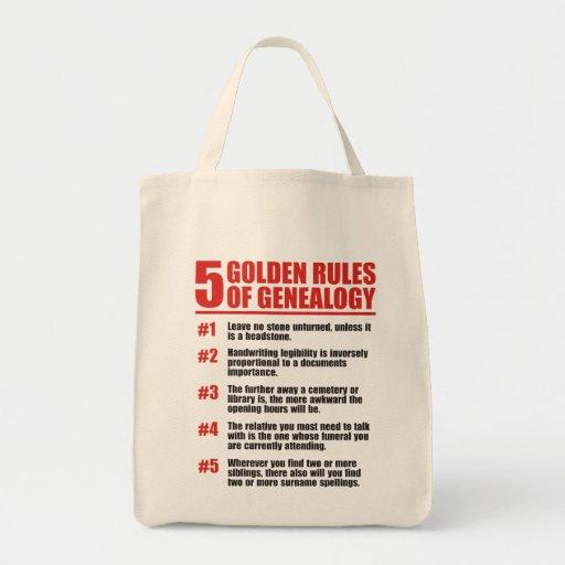 5 normas de oro de genealogía bolsa