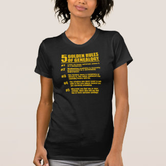 5 normas de oro de genealogía camiseta